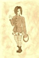 Yumichika as Angel in sepia by bibi-wish