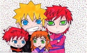 Uzumaki Sabakuno Family by papalotl25