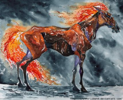 Fire horse by 17Yame-Yame48