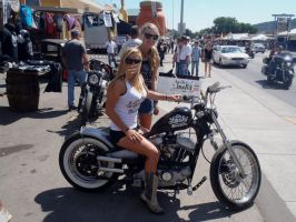 Posing for me downtown Sturgis by Caveman1a