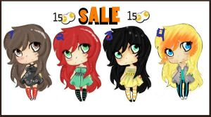 Lil girl adopts SALE (Closed) by Glowzor