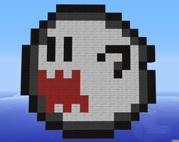 Minecraft Super Mario Boo by exit1