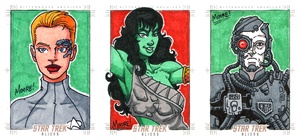 Star Trek Aliens AR Sketch Cards on eBay! by SeanRM