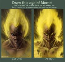 Draw This Again: Meme - Majin Vegeta by adammiconi