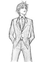 OC Doodle: Suit Chaos by baronpluto