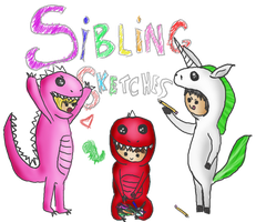 Freebie: Sibling Sketches Shop Banner by CandieRain