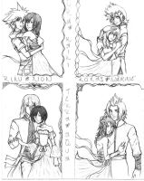 Kingdom Hearts Couples by rinounahearts