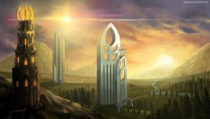 Towers (w/video process) by clayscence