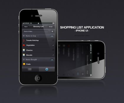 iPhone UI - Shopping List by da8esix