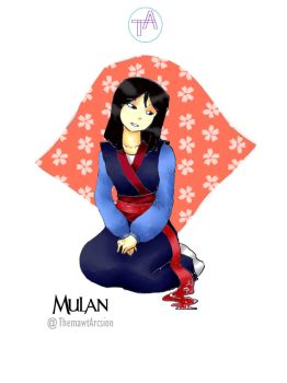 Disney Girl Challenge 22: Mulan by ThemawtArcsion