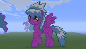 MLP Cloudchaser in Minecraft by o0rolyat0o
