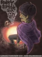 Happy Birthday Murdoc X3 by KOUYA-SURA