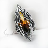 INGMARHT( ring ) - silver and ametrine by LUNARIEEN