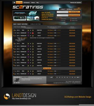 Sc2 Ratings Web Design by LanotDesign