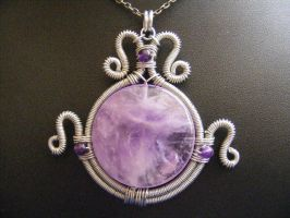 Cape Amethyst Urn Pendant by BacktoEarthCreations