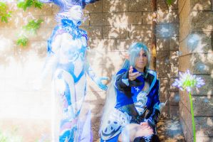 Dreams of Ice, Shiva and Iceheart Cosplay by dragony226