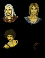 dragonlance heroes doodles by gwengivar