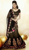 Black-Embroidered-Net-Lehenga-Saree-FD-1556-35520  by ethniclover