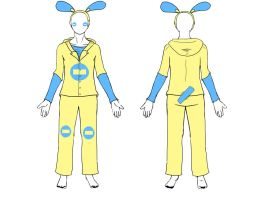 Design for Minun cosplay by Nzabob