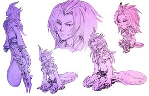 FF9: More Kujas by foxysquid