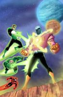 Green Lantern animated issue #2 cover by DarioBrizuelaArtwork
