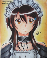 Misaki as a Maid by Artsanpuc101