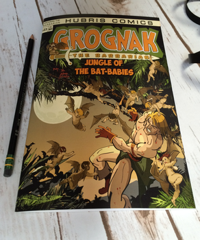 Grognak The Barbarian: Jungle Of The Bat-Babies by wastelandPeach