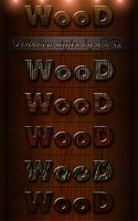 Wooden Styles for Photoshop by DiZa-74