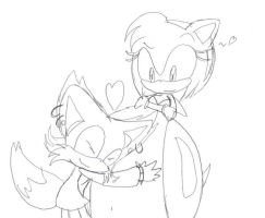 ash and ames, hugging by NEEKEEZH
