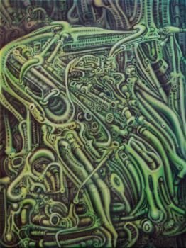 Biomechanical Greenscape by TwirlyMind