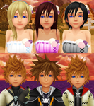 Kingdom Hearts Boys and Girls Date Couples by 9029561