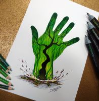 Mother Earth Drawing by AtomiccircuS