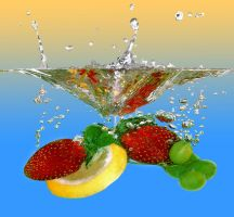 FRUIT thrown into the water 4 by AdrianaKH-75