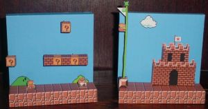 Super Mario Bros Dioramas by paperart