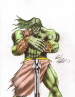 Skaar, son of Hulk study by Fricky-Ticky-Tavvy