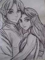Link and Malon by bug-xx