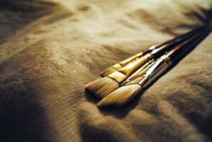 Paint brushes by LeaLion