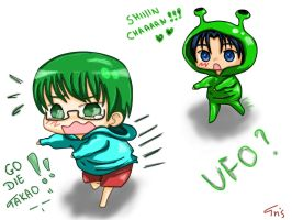 Shin-chan and ufo Takao by TrisVita