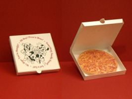 Disney World Pizza Paper Toy by Tektonten