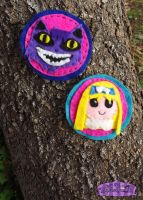 Cheshire and Alice pin HandMade by Dollface-RYJ