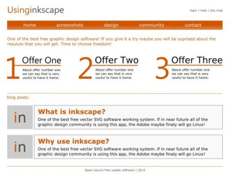 Web Layout created in Inkscape by kapsarovb