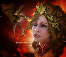 The mother of dragons by MelieMelusine
