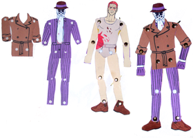 Superhero Dollies: Rorschach by BaaingTree