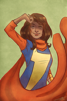 Kamala Khan by Coppervos