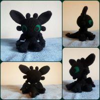 Toothless crochet stuffed animal by Tithoyie