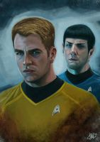 Kirk + Spock | Fan Art by Yulian-Ardhi