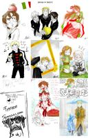 APH - Tegaki bunch by Ellinor87