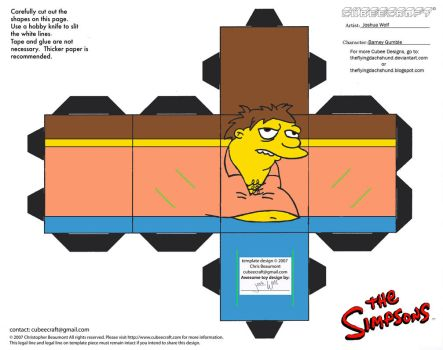 Simpsons4: Barney Gumble Cubee by TheFlyingDachshund