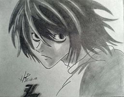 ''L'' Death Note by underpowerxo