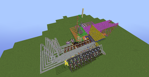 Tic Tac Toe Redstone Build - Overhead View 2 by bugworlds